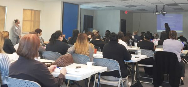 Ricardo Rubiales presenting to therapists and caseworkers in Homestead, Florida, in year-long Community Based Learning Collaborative in TF-CBT, January 26, 2017.