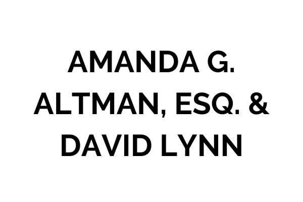 Amanda G. Altman, Esq. & David Lynn